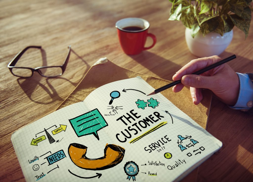 38523146 - the customer service target market support assistance concept